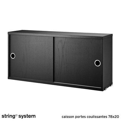 String system caisson portes coulissantes 78x20 fr ne - Caisson porte coulissante ...