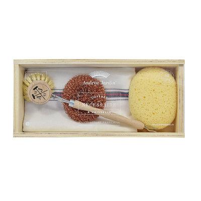 coffret nécessaire à vaisselle Tradition avec boule cuivre ...