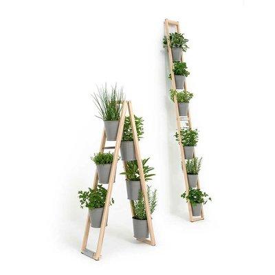 chelle tag re jardini re pour plantes et aromatiques gris. Black Bedroom Furniture Sets. Home Design Ideas