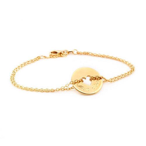 Bracelet Poême Coeur plaqué or par Petits Trésors pour Comptoir des Filles