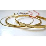 Bracelets Joncs en argent ou vermeil avec un petit lien de fermeture par L by L'avare pour Comptoir des Filles