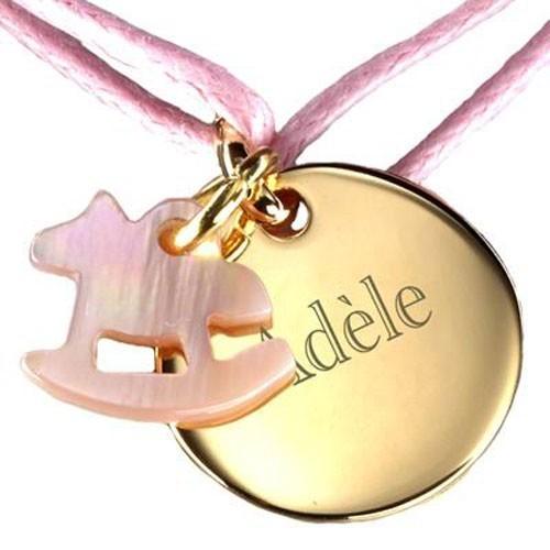 Célèbre Bracelet Fantaisie Enfant médaille et Cheval nacre - Petits  JF13