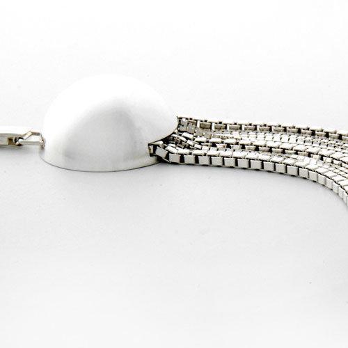 bracelet boule argent multi rangs adeline cacheux 350 eur comptoir des filles. Black Bedroom Furniture Sets. Home Design Ideas