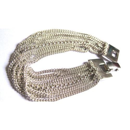Bracelet Multi,rangs en argent par Adeline Cacheux pour Comptoir des  Filles