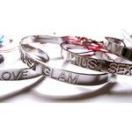 Bracelets Just Love, Just Glam et Just Sexy en Argent sur lien par L by L'avare pour Comptoir des Filles