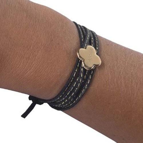 Bracelet femme noir et blanc