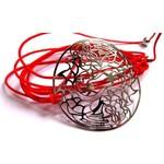 Bracelet Dragon en Argent 925 sur lien multi-tours Rouge corail par L by l'avare pour Comptoir des Filles