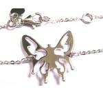 Bracelet Papillon en Argent sur chaîne par L by l'avare pour Comptoir des Filles