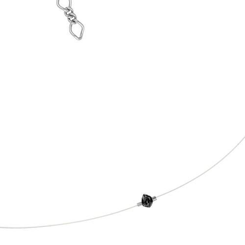 collier nude diamant sur fil transparent mini diams 115 eur comptoir des filles. Black Bedroom Furniture Sets. Home Design Ideas