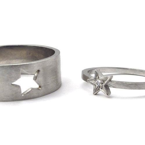 4d237a2c800 Bagues Homme et Femme Twin Stars en or blanc et diamant (pour Elle) par