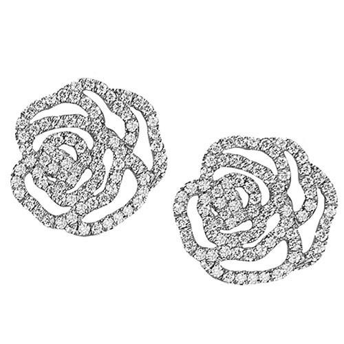 boucles d oreilles joaillerie idylle la rose or et pavage. Black Bedroom Furniture Sets. Home Design Ideas