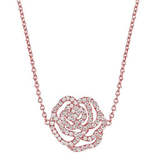 collier idylle rose xl or et diamants vanessa tugendhaft. Black Bedroom Furniture Sets. Home Design Ideas