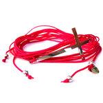 Bracelet Croix en Argent sur lien rose framboise par L by l'avare pour Comptoir des Filles