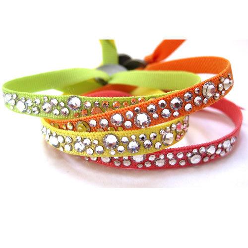 Bracelets Constellation couleurs fluo (Vert clair fluo, orange fluo, jaune  fluo, corail