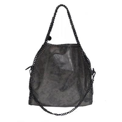 c62007e2ffd Sac bordure chaine - triple chaines - gris effet irisé - CpourL
