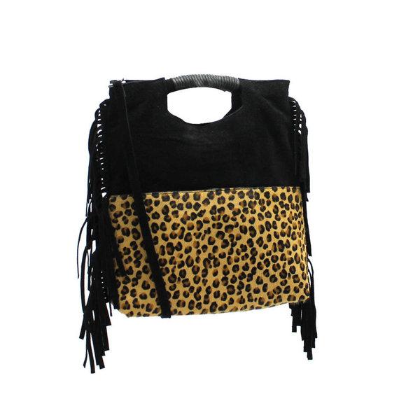 59b3888d00 ... sac franges cuir noir-léopard - CpourL ...
