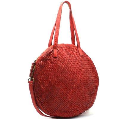 grand choix de 95c5a e4674 sac rond cuir vintage tressé - CpourL