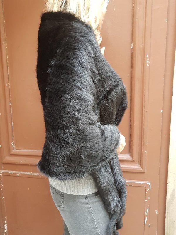 19b7be1fb592 ... étole large fourrure vison - franges - CpourL