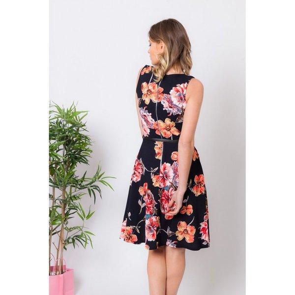 df186d61b robe patineuse imprimé fleuri - CpourL
