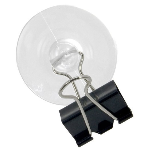 Binder Clip With Suction Cup