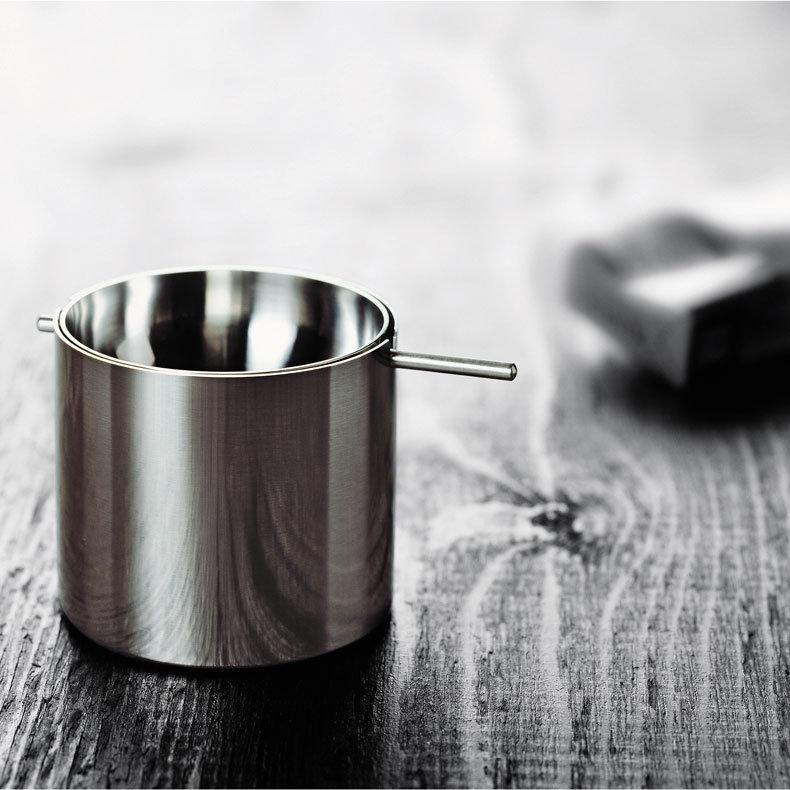 perfect stainless steel revolving ashtray stelton arne. Black Bedroom Furniture Sets. Home Design Ideas