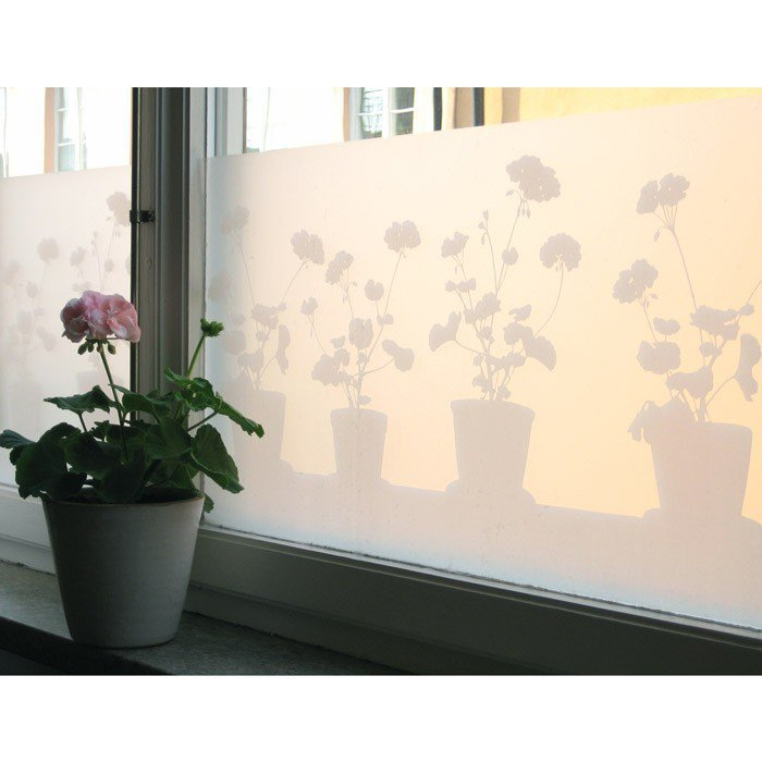 Decorative vitrostatic window screen film lapadd for Brise vue fenetre