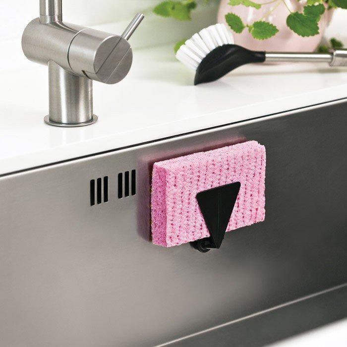 magnetic sponge holder for sinks