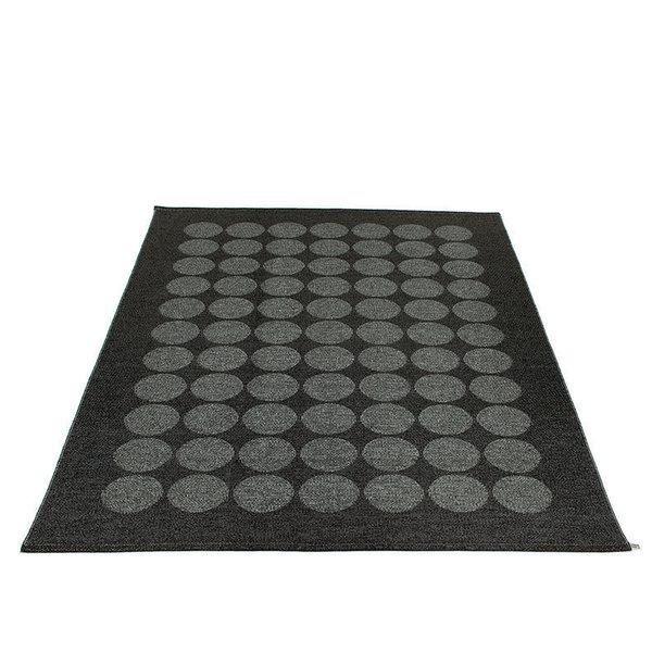 Pelina Hugo 180x260cm Metallic Black Broad Woven Plastic Rug