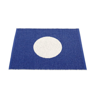 Pappelina VERA SMALL ONE (70 x 90) / Blueberry • Vanilla - small rug, bathmat, luxury doormat, hand-made in Sweden - design: Pappelina