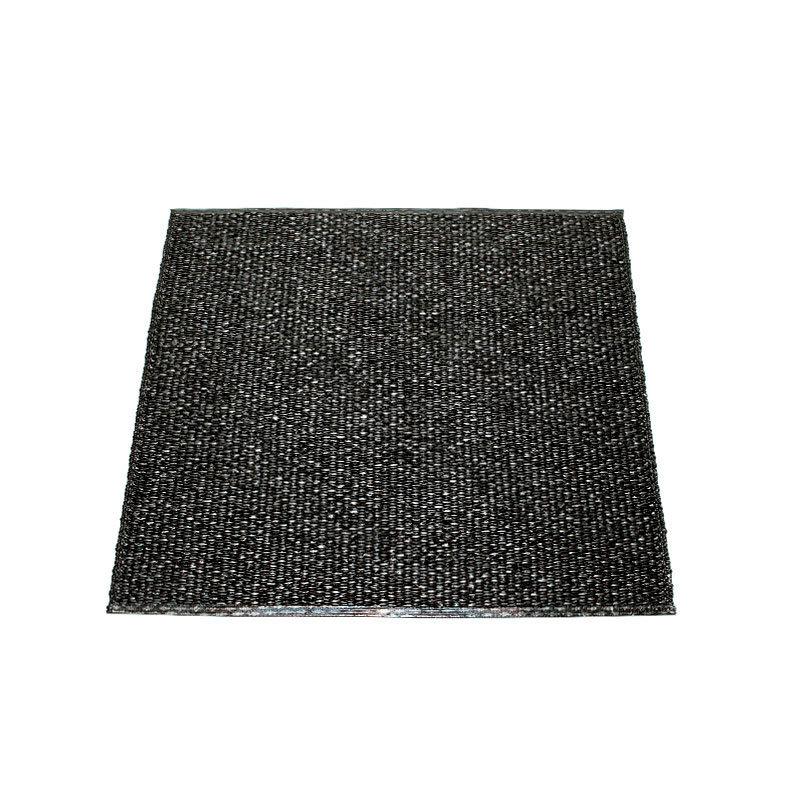 Pappelina Svea Black Metallic Black Bathmat Luxury