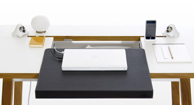 Bluelounge studiodesk electro ergonomic desk lapadd - Sous main bureau ikea ...