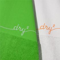 l'essuie-main 1/3 éponge 2/3 torchon dry2 (Pensionfürprodukte) : 36% de la hauteur est en éponge, 64% un torchon classique en coton