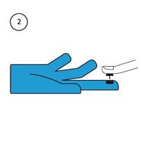 Pose de la puce conductive pour manipuler les écrans tactiles avec des gants