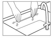 installation du rail inox aimanté pour évier ou frigo