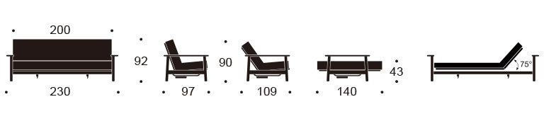 Canap lit clic clac de luxe balder innovation living dk - Clic clac dimension standard ...