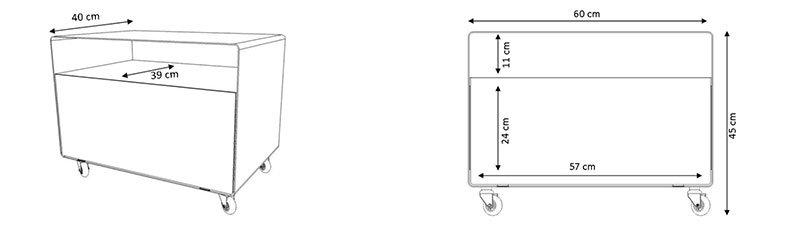 Meuble tv compact chariot avec porte r107n m ller for Meuble bureau compact