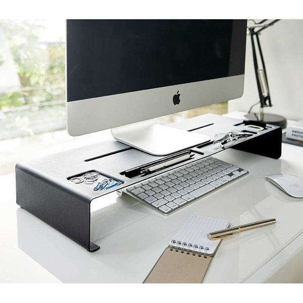 r hausseur d cran organiseur de bureau monitor stand tower yamazaki. Black Bedroom Furniture Sets. Home Design Ideas