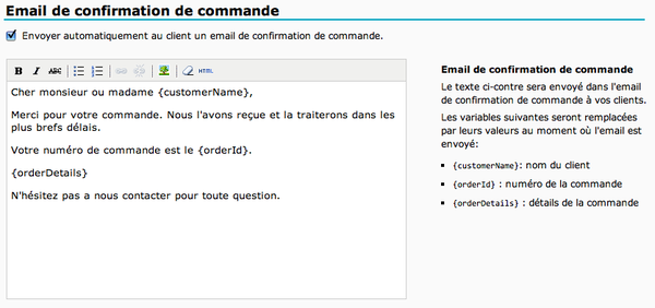Site e commerce envoyez automatiquement un e mail de confirmation de commande ugal - La redoute contact mail ...