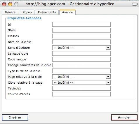 Cr er un blog avec l apce ugal for Ouvrir fenetre javascript