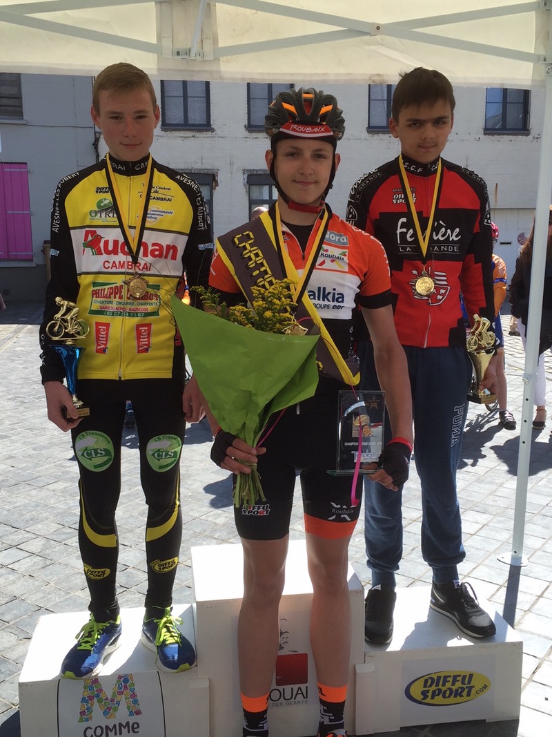 theo bracke champion du nord route 2016 minime