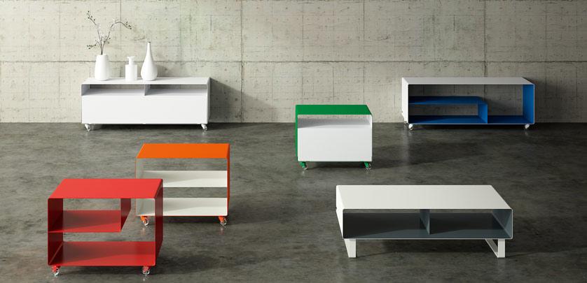 meuble tv compact chariot avec porte r107n m ller m belfabrikation. Black Bedroom Furniture Sets. Home Design Ideas
