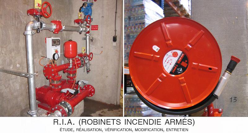 ACSI conçoit, installe, vérifie et entretient vos Robinets Incendie Armés (RIA)
