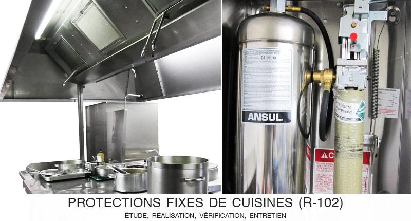 ACSI conçoit, installe, vérifie et entretient vos installations de sécurité de cuisine R102