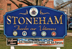 Town of Stoneham MA Sign from Shanahan Real Estate