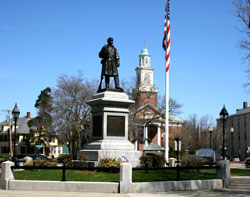 Image of Woburn MA statue from Shanahan Real Estate Group