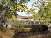 Fryeburg, Maine - Covered Bridge over the Old Saco River