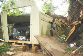 falling down shed