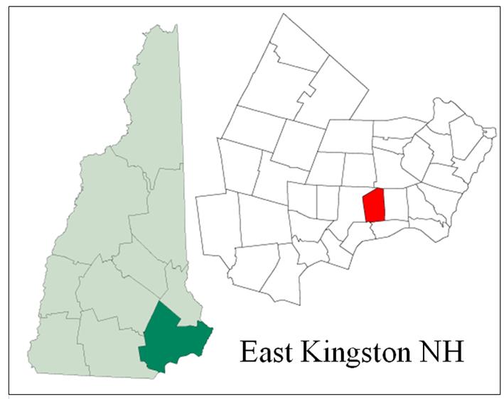 East Kingston NH Map