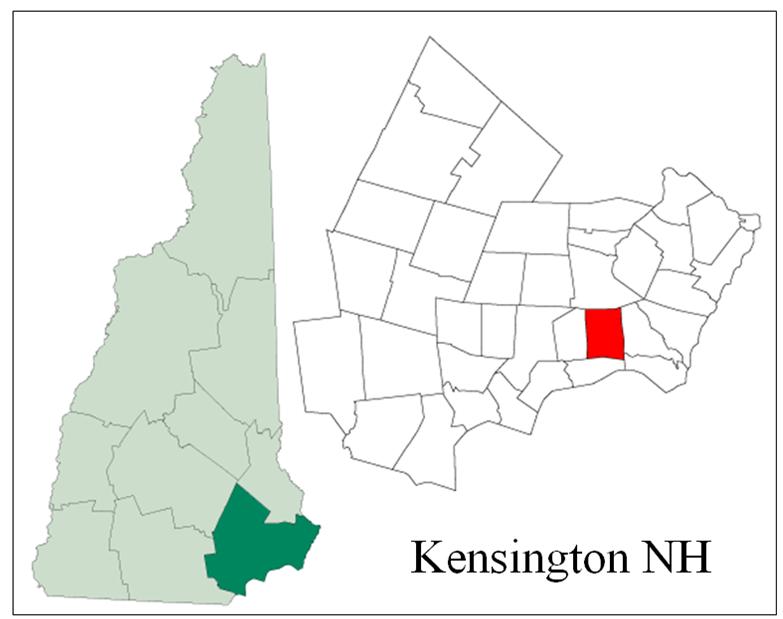 Kensington NH Map