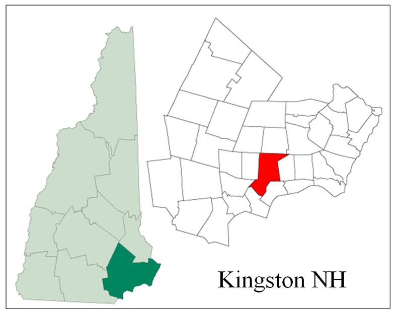 Kingston NH Map